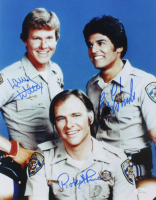 "Erik Estrada, Robert Pine & Larry Wilcox Signed ""CHiPS"" 11x14 Photo (JSA Hologram) at PristineAuction.com"