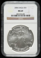 2009 American Silver Eagle $1 One Dollar Coin (NGC MS 69) at PristineAuction.com