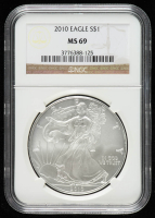2010 American Silver Eagle $1 One Dollar Coin (NGC MS 69) at PristineAuction.com