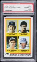 1978 Topps #707 Rookie Shortstops / Mickey Klutts / Paul Molitor RC / Alan Trammell RC / U.L. Washington RC (PSA 8) (OC) at PristineAuction.com