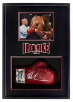 """Iron"" Mike Tyson Signed 19.5x28.5x6 Custom Framed Boxing Glove Shadowbox Display (Beckett COA & Fiterman Hologram) at PristineAuction.com"