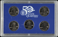 2002-S U.S. Mint 50 State Quarters Proof Set with (5) Coins at PristineAuction.com