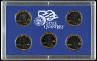 2000-S U.S. Mint 50 State Quarters Proof Set with (5) Coins at PristineAuction.com