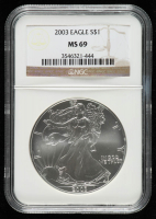 2003 American Silver Eagle $1 One Dollar Coin (NGC MS 69) at PristineAuction.com