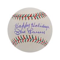 "Don Larsen Signed Baseball Inscribed ""Happy Holidays"" (Steiner Hologram) at PristineAuction.com"