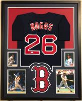 """Wade Boggs Signed 34x42 Custom Framed Jersey Inscribed """"HOF 05"""" (JSA COA) at PristineAuction.com"""