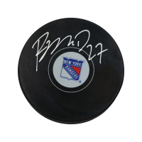 Ryan McDonagh Signed Rangers Logo Hockey Puck (Steiner Hologram) at PristineAuction.com