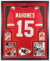 Patrick Mahomes Signed 34x42 Custom Framed Jersey (JSA COA) at PristineAuction.com