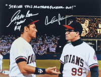 "Charlie Sheen & Corbin Bernsen Signed ""Major League"" 11x14 Photo Inscribed ""Strike This Motherf***** Out!"" & ""Dorn"" (Beckett COA) at PristineAuction.com"