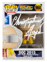 "Christopher Lloyd Signed ""Back To The Future"" #960 Doc 2015 Funko Pop! Vinyl Figure (PSA Hologram) at PristineAuction.com"