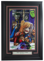 "Greg Horn Signed ""Harley Quinn & Knocking Joker"" 11x17 Custom Framed Lithograph Display (JSA COA) at PristineAuction.com"