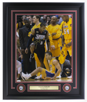 Allen Iverson Signed 76ers 22x27 Custom Framed Photo Display with (2) 76ers Medallions (JSA COA) at PristineAuction.com