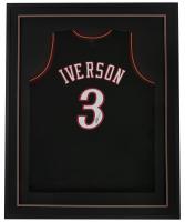 Allen Iverson Signed 32x42 Custom Framed Jersey Display (JSA Hologram) at PristineAuction.com