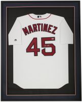 Pedro Martinez Signed Red Sox 32x42x2 Custom Framed Jersey Display (Beckett COA) at PristineAuction.com