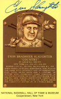Enos Slaughter Signed Hall of Fame Plaque Postcard (JSA COA) at PristineAuction.com