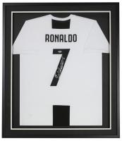 Cristiano Ronaldo Signed 32x36 Custom Framed Adidas Juventus Jersey (Beckett COA) at PristineAuction.com