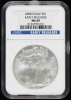 2008 American Silver Eagle $1 One Dollar Coin - Early Releases (NGC MS69) at PristineAuction.com