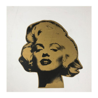 "Steve Kaufman Signed ""Marilyn, Gold"" Limited Edition 18x18 Hand Pulled Silkscreen Mixed Media on Canvas at PristineAuction.com"