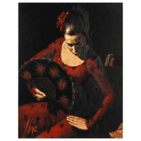 "Fabian Perez Signed ""Isabella"" Hand Textured Limited Edition 25x20 Giclee on Canvas AP #30/30 at PristineAuction.com"