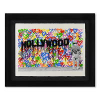 "Mr. Brainwash Signed ""Hollywood"" Limited Edition 40x32 Custom Framed Silkscreen #23/125 at PristineAuction.com"