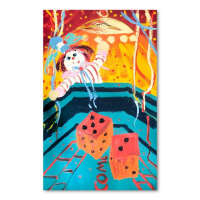"Paul Blaine Henrie Signed ""7 Come 11"" 48x30 Original Painting on Canvas at PristineAuction.com"