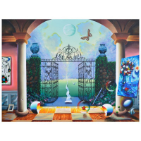 "Ferjo Signed ""At the Garden Gates"" 30x40 Original Painting on Canvas at PristineAuction.com"