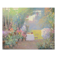 """Ming Feng Signed """"Tea Garden"""" 30x24 Original Oil Painting on Canvas at PristineAuction.com"""
