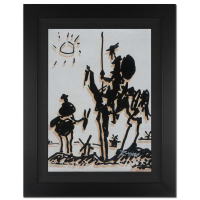 """Ringo Signed """"Don Quixote"""" 16x19 Custom Framed One-of-a-Kind Mixed Media Painting on Canvas at PristineAuction.com"""