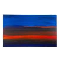 "Wyland Signed ""Sunset of the Gulf"" 30x50 Original Painting on Canvas at PristineAuction.com"
