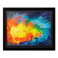 "Wyland Signed ""Color of Life 2003"" 30x37 Custom Framed Original Watercolor Painting at PristineAuction.com"