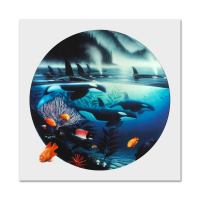 "Wyland Signed ""Orca Journey"" Limited Edition 38x38 Cibachrome at PristineAuction.com"