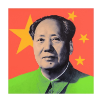 """Steve Kaufman Signed """"Chairman Mao"""" Limited Edition 24x24 Hand Pulled Silkscreen on Canvas #14/50 at PristineAuction.com"""