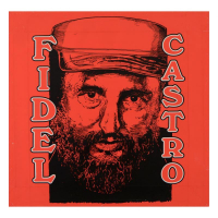 "Steve Kaufman Signed ""Fidel Castro"" Limited Edition 24x24 Hand Pulled Silkscreen on Canvas TP #11/100 at PristineAuction.com"