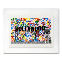 "Mr. Brainwash Signed ""Hollywood"" Limited Edition 38x31 Custom Framed Silkscreen #56/125 at PristineAuction.com"