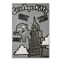 """Todd Goldman Signed """"Goodbye Kitty"""" 48x72 Original Acrylic Painting on Gallery Wrapped Canvas at PristineAuction.com"""