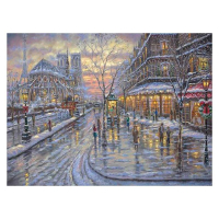 """Robert Finale Signed """"Christmas In Paris"""" 18x24 Artist Embellished Limited Edition on Canvas at PristineAuction.com"""