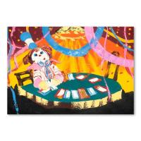 "Paul Blaine Henrie Signed ""Blackjack Beats 21"" 30x40 Original Painting on Canvas at PristineAuction.com"