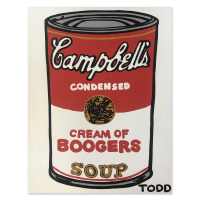 """Todd Goldman Signed """"Cream of Boogers"""" 48x36 Original Painting on Canvas at PristineAuction.com"""