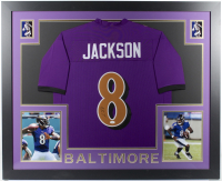 Lamar Jackson Signed 35x43 Custom Framed Jersey (JSA COA) at PristineAuction.com