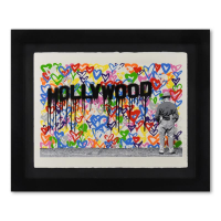 """Mr. Brainwash Signed """"Hollywood"""" Limited Edition 40x32 Custom Framed Silkscreen #53/125 at PristineAuction.com"""