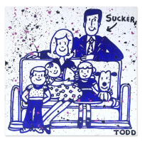 "Todd Goldman Signed ""Sucker"" 48x48 Original Painting on Canvas at PristineAuction.com"