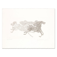 "Guillaume Azoulay Signed ""Tennue"" Limited Edition 30x22 Etching at PristineAuction.com"