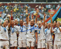 Christie Rampone Signed Team USA 2015 FIFA World Cup Champions 8x10 Photo (Steiner COA) at PristineAuction.com