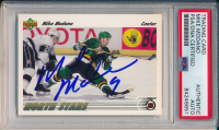 Mike Modano Signed 1991-92 Upper Deck #160 (PSA Encapsulated) at PristineAuction.com