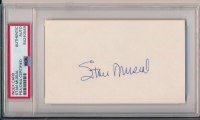 Stan Musial Signed 3x5 Index Card (PSA Encapsulated) at PristineAuction.com