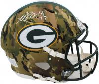 Davante Adams Signed Packers Full-Size Authentic On-Field Camo Alternate Speed Helmet (Radtke COA) at PristineAuction.com