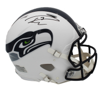 Russell Wilson Signed Seahawks Full-Size Authentic On-Field Flat White Speed Helmet (Wilson Hologram) at PristineAuction.com
