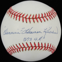 """Hammerin'"" Harmon Killebrew Signed OAL Baseball Inscribed ""573 H.R.'s"" (PSA COA) at PristineAuction.com"