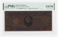 1928 $20 Twenty Dollars Commemorative Gold Certificate (PMG Gem Uncirculated) at PristineAuction.com