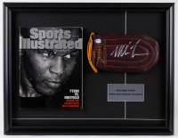 Mike Tyson Signed 17x22 Custom Framed Glove Display With 1997 Sports Illustrated Magazine (PSA COA) at PristineAuction.com
